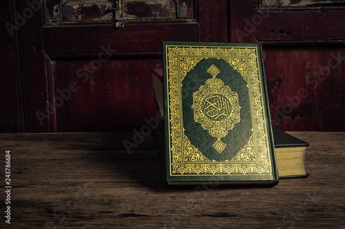 Fotografiet Koran - holy book of Muslims ( public item of all muslims )  , still life