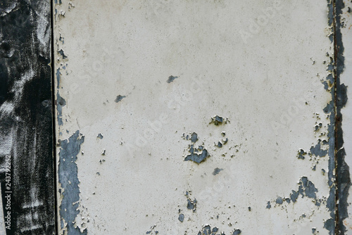 Fotografie, Obraz  Grungy metal surface with peeling paint and white space