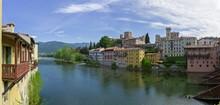 View Over Brenta River, Bassano Del Grappa, Veneto, Italy, Europe