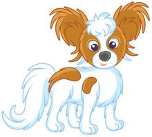 Small Funny Dog Papillon Frien...