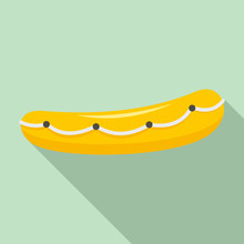 Lifeboat Icon. Flat Illustration Of Lifeboat Vector Icon For Web Design