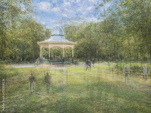 Bandstand in the Sun Canvas Print