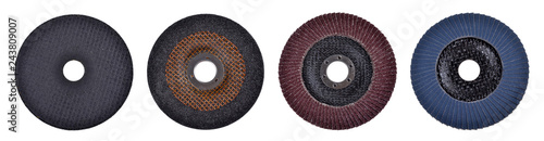 Fotografia, Obraz cutting discs for angle grinder isolated on white background