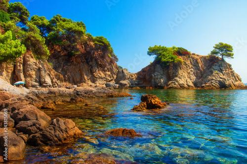 Fotografiet Sea bay in Lloret de Mar