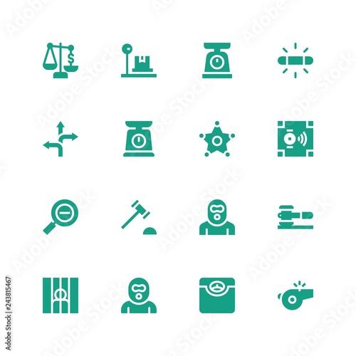 Photo  law icon set