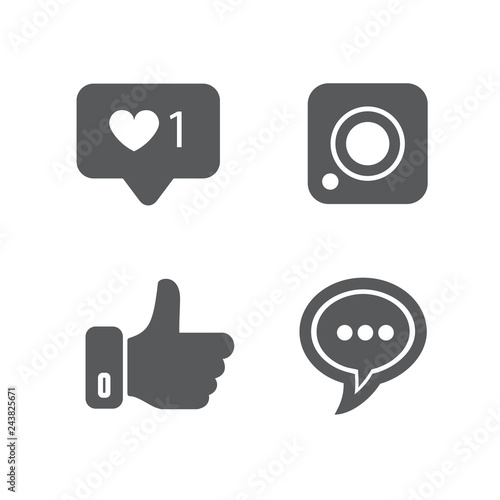 Social Media Icons On White Background For Graphic And Web Design Modern Simple Vector Sign Internet Concept Trendy Symbol For Website Design Web Button Or Mobile App Buy This Stock Vector