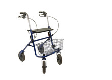 A Walker With Wheels Isolated On A White Background
