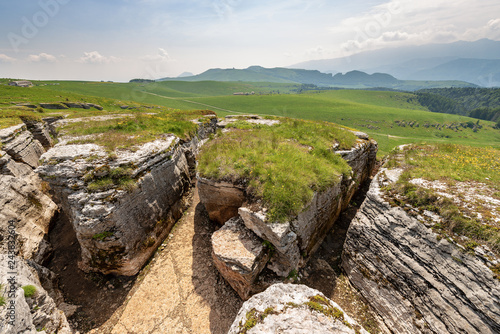 Fotografia First World War Trenches in Lessinia Italy