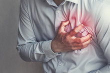 People Chest Pain From Heart Attack. Healthcare Concept