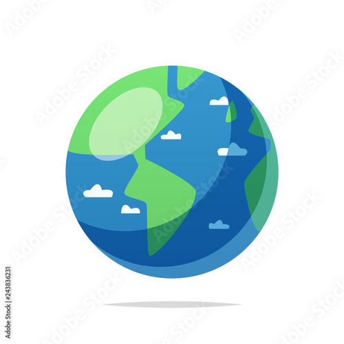 Planet earth vector isolated illustration