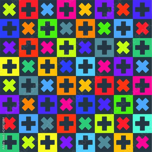 Fotografie, Obraz  Rough vector crosses pattern