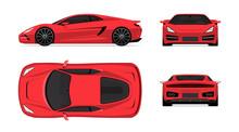 Sports Car Set In Flat Design ...