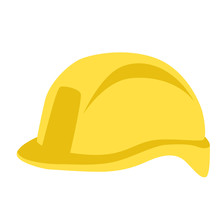 Protective Helmet ,vector Illustration , Flat Style ,profile