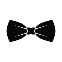 Black Bow Tie Icon. Isolated S...