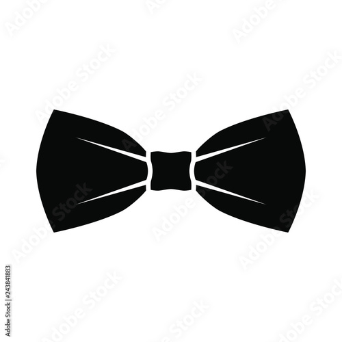 Canvastavla Black bow tie icon