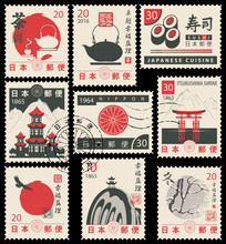 Set Of Vector Postage Stamps O...