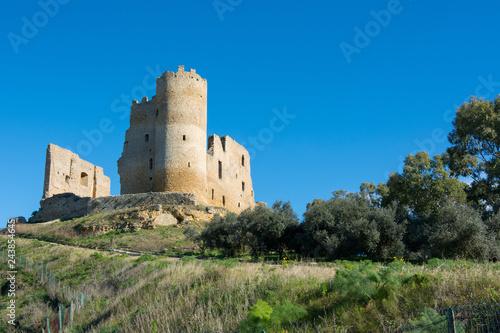 Foto op Aluminium Historisch geb. Sicilian castles. Mazzarino Medieval Castle.