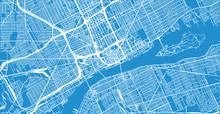 Urban Vector City Map Of Detro...
