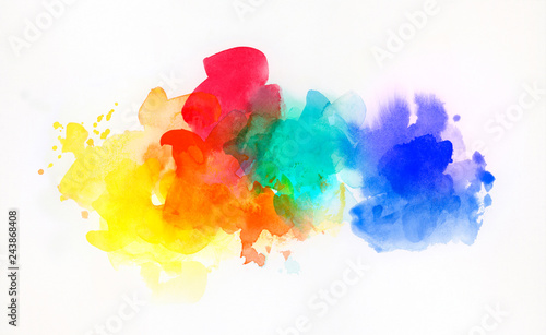 Εκτύπωση καμβά aquarell regenbogen abstrakt freigestellt