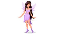 Beautiful Fairy In Purple Dress