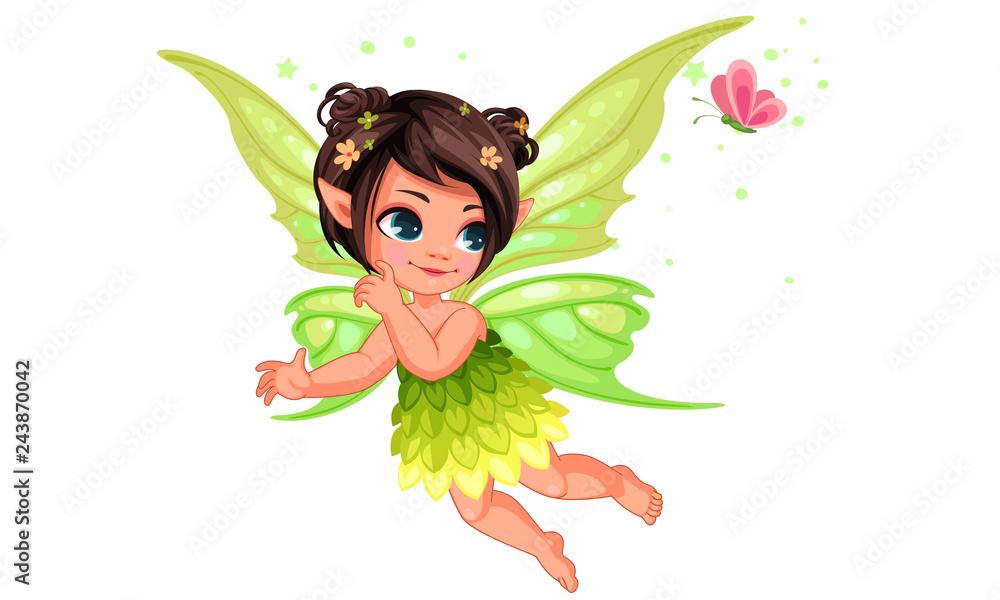 Fototapeta Beautiful little nature fairy