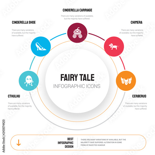 Photo  Abstract infographics of fairy tale template