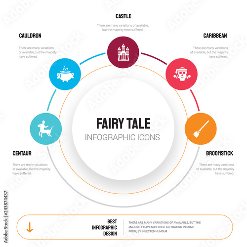 Abstract infographics of fairy tale template  Centaur