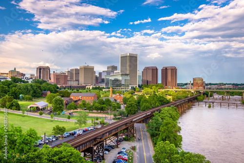 Obraz na plátně Richmond, Virginia, USA downtown skyline