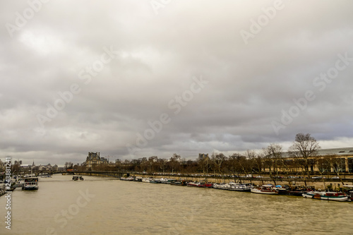 Fotografia  Senna river, Photo image a Beautiful panoramic view of Paris Metropolitan City