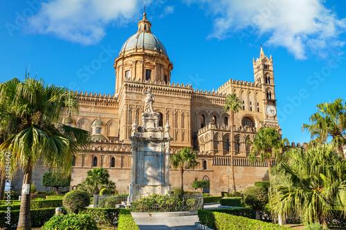 Foto op Aluminium Historisch geb. Palermo Cathedral, Palermo, Sicily, Italy