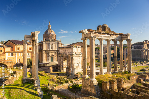 Fotografía The Roman Forum view, city square in ancient Rome, Italy