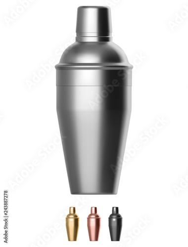 Canvas Print Metal cocktail shaker