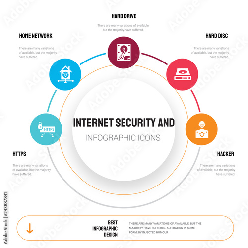 Abstract Infographics Of Internet Security And Template