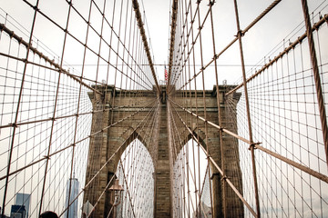 New york City, USA - Oct 23, 2015: Brooklyn Bridge - New York, USA
