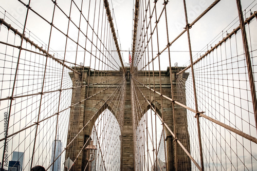 Photo  New york City, USA - Oct 23, 2015: Brooklyn Bridge - New York, USA