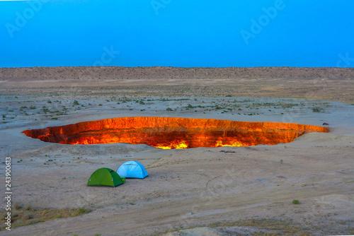 Tableau sur Toile Darvaza Gas Crater Pit 10