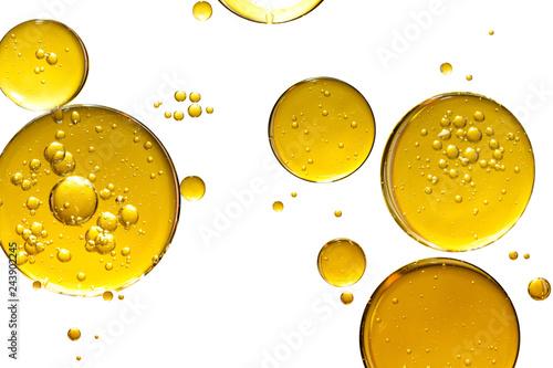 Fototapeta golden yellow bubble oil, abstract background obraz