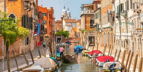 Italy beauty, canal street in Venice, Venezia - 243904454