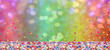 canvas print picture - Colorful confetti in front of colorful background with bokeh for carnival