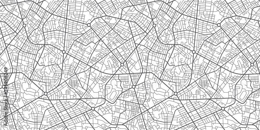 Fototapety, obrazy: Street map of town