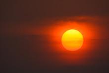 Beautiful Golden Orange Sunset Background