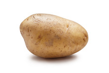 Young Potato Isolated On White...