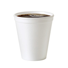 Insulated Styrofoam Or Foam Takeaway Coffe Or Tea Cup With Clipping Path