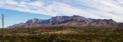 Spoed Foto op Canvas Blauwe hemel Beautiful Panoramic American Landscape during a sunny day. Taken North of El Paso, New Mexico, United States.
