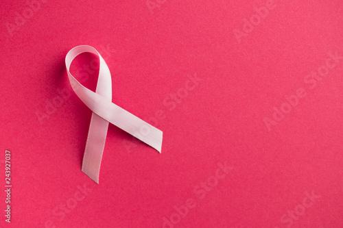 Fotografiet Pink breast cancer ribbon. Breast cancer symbol.