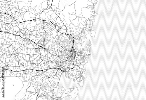 Fotografie, Obraz Area map of Sydney, Australia