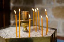 Candles In Church Nicosia Cyprus