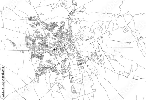 Cuadros en Lienzo Area map of Marrakech, Morocco
