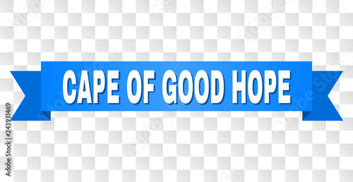 CAPE OF GOOD HOPE text on a ribbon Canvas-taulu