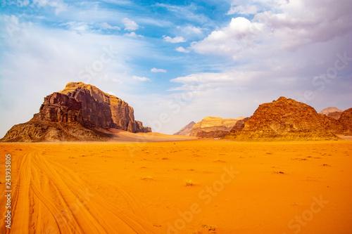Fotobehang Zandwoestijn wadi rum jordan